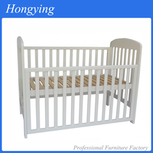 Hot sales safety breathable pine wood baby crib