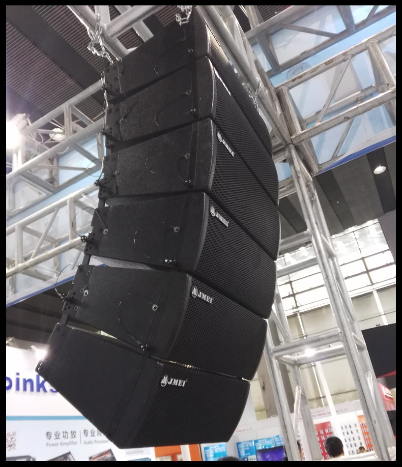 Full range Neo mags powered double dual 6.5inch 8inch 10inch active line array with built in amplifier board and DSP