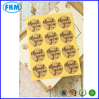 THANK YOU Shapes Kraft Brown Stickers adhesive paper craft DIY seal labels