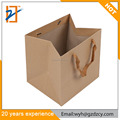 Supplier Shopping Recycled Custom Design Brown Kraft Paper Bag With Handle
