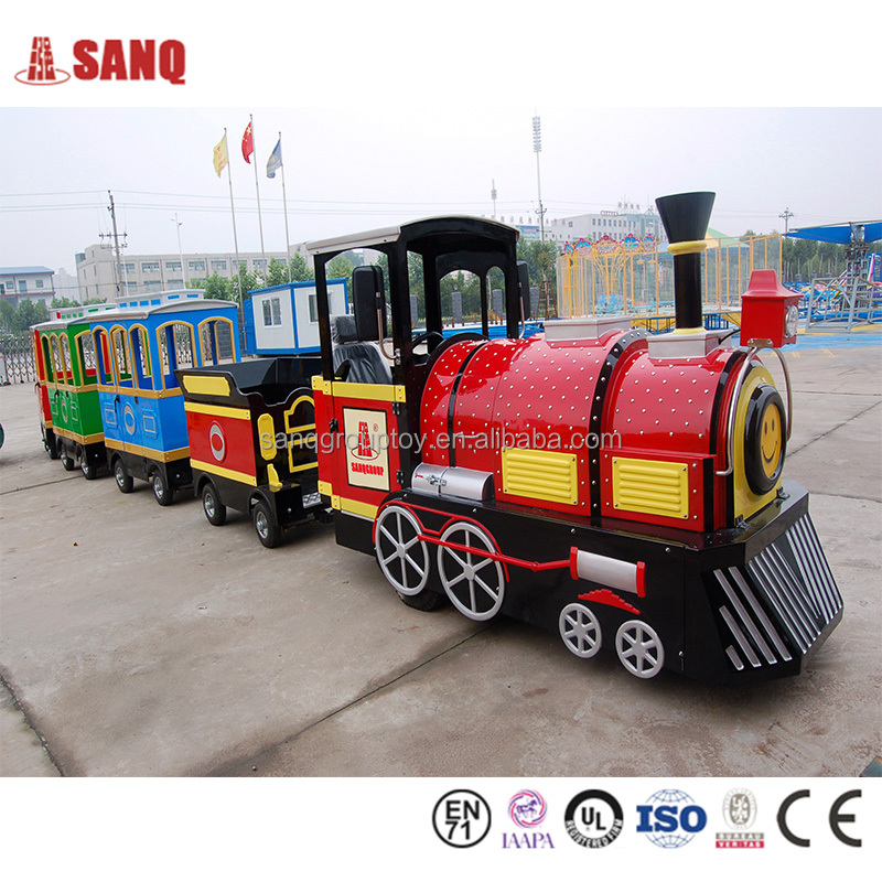Amusement park electric sightseeing train for passenger, electric passenger trains for sale