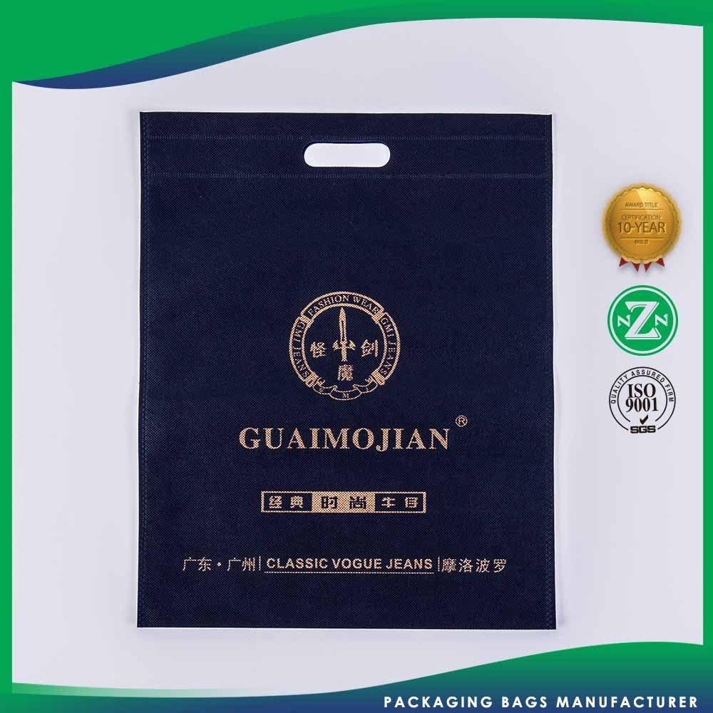 Advertising Promotion Customized OEM Elegant and high end Apparel non woven bag in china