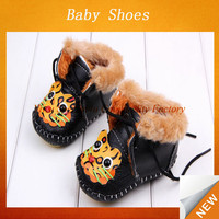 2015 warm plush baby shoes cute animal pattern fur baby footwear SYBS-325