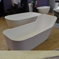 Very Small Freestanding Acrylic Baby Bathtub with Seat