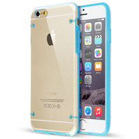 Hot selling colorful ultra thin slim hard crystal transparent clear phone case for iPhone 6 4.7 inch