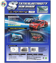 TAIWAN High visibility Electro Static mesh screen sun shade static window film auto car side sunshade