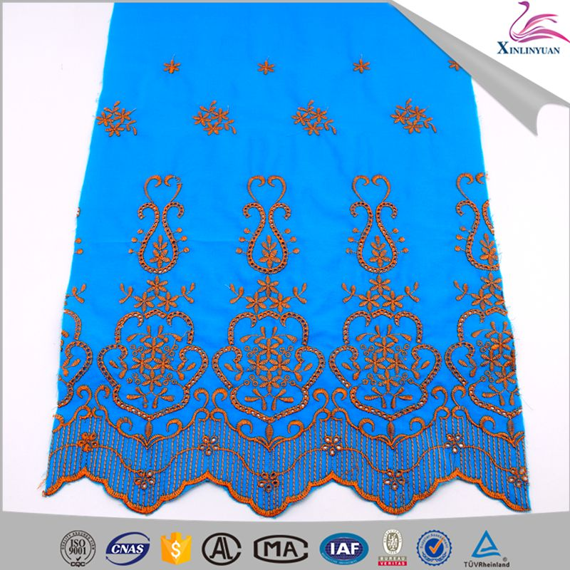 2018 New products cotton embroidery lace fabrics