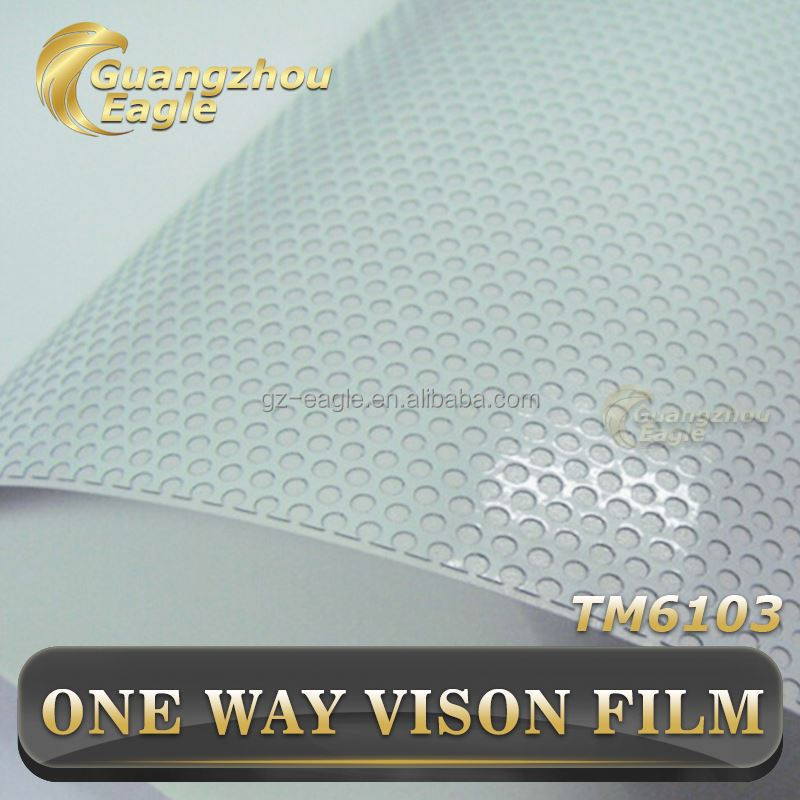 Eco-friendly Printable Adhesive Vinyl Roll One Way Vision Window Film Outdoor Digital Printing