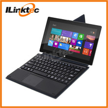 Ultra thin wireless keyboard case & pogo pin keyboard with touchpad for Windows 8 tablet pc