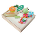 Wooden cutting fruit kitchen toys set