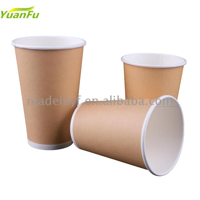 Portable biodegradable hot paper cups beautiful coffee Single wall kraft