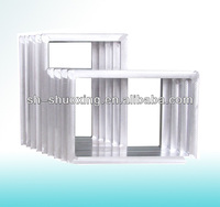 Aluminum screen print frame with screen mesh