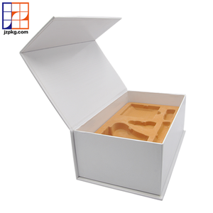 Custom printing luxury paper packaging white large magnetic gift box for promotion item kits