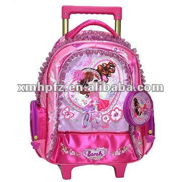 cartoon pictures for kids school bag with wheels