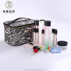 Eco friendly best selling makeup bag lace cosmetic 2016 travel PVC cosmetic bag