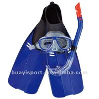 factory swimming set for diving,swimming equipment, diving mask and snorkel and fins sets