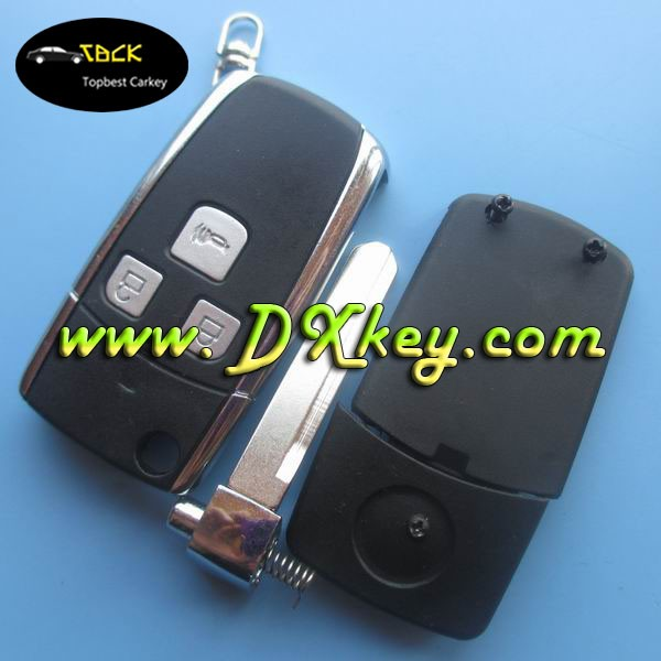 Topbest 3 buttons modified flip key shell no logo for BYD F3 2nd gerneration alarm remote fob case BYD key