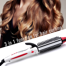 2017 hot selling 3 in 1 automatic steam hair curler with LED display temp setting curling irons