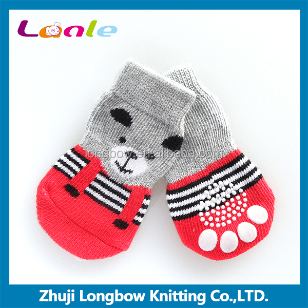 Wholesale dog pet products anti slip pet shoe socks for dogs cats