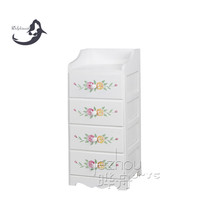Popular and simple style wooden clothes cabinet with flower printing