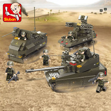 ABS plastic sluban building blocks military armored vehicle double decker bus toys 2016 for sale