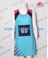 Sublimation Cheap Netball Jersey Skirts Dresses Uniforms