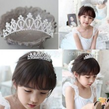 Han edition girls princess baby children tire hair accessories large combs peacock tail diamond crown mini tiara