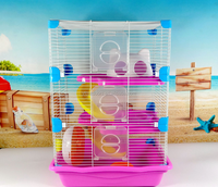 Luxury three layers hamster cage