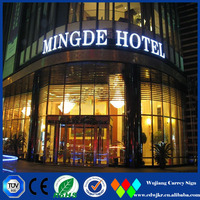Customized 3d metallic letters price sign board for hotel