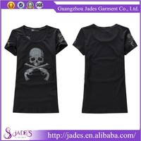 High quality 2015 manufacturer oem design old wholesale skull t-shirt