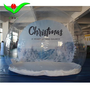 Christmas decorations giant inflatable snow globe with frame tunnel photo booth