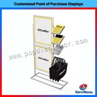 New style modern shopping mall wooden hanging bag display stand