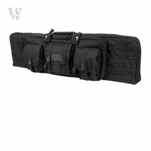 2 In 1 Airsoft Handle Carrying Shoulder Backpack Shotgun Double Carbine Gun Case Rifle Bag