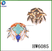 hw6085 Arcylic And Rhinestone Beads Shoe Clips For Woman Flat Shoes