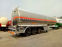 China supplier single axle small fuel tank trailer