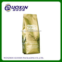 Plastic Back Seal Custom Printed Food Grade Wholesale Coffee Bag