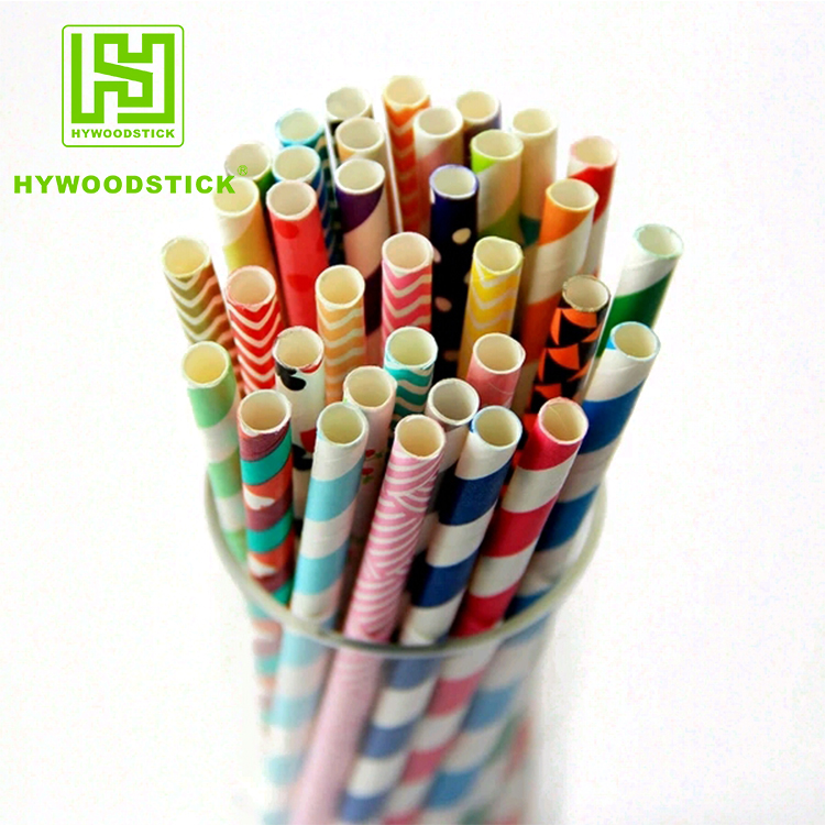 Wholesale Disposable Flexible Paper Drinking Straws Big