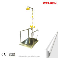 Foot Control Stainless Steel Combination Eyewash/Shower(with Platform)