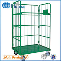 Japanese rolling foldable warehouse storage platform trolley