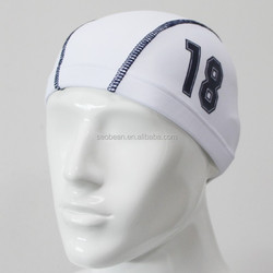 white color waterproof swimming hats swim caps