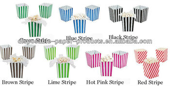 Candy Pink Striped Popcorn Boxes Great for all your Partys Movie night Event