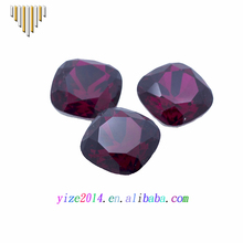 Garnet 10 mm square cz diamond synthetic stone price for jewelry rings