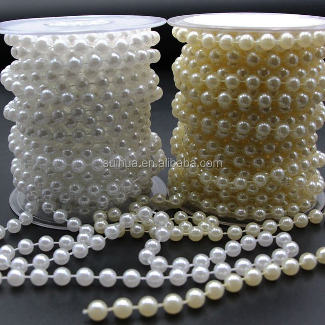 Good Quality 8mm Crystal Pearl Beads Strand Faux Pearl Beads String In The Roll