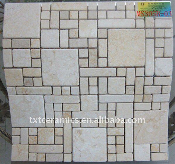 Stone Modern Mosaic Wall Tile Ms305b-04