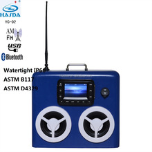 5 inch screen waterproof mp3 bluetooth radio tunner 2 sound box speaker for yacht sauna spa swimming pool camping RV