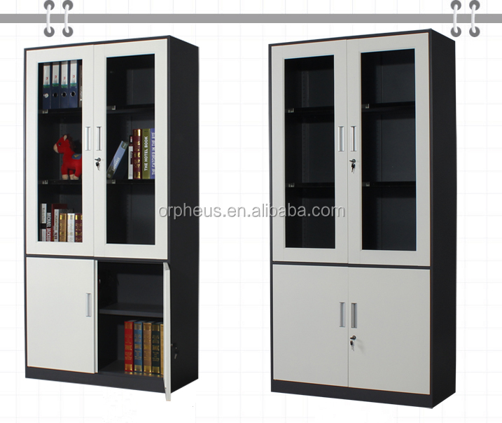 Office Equipment Swing 4 Door Steel File Cabinet Office Furniture