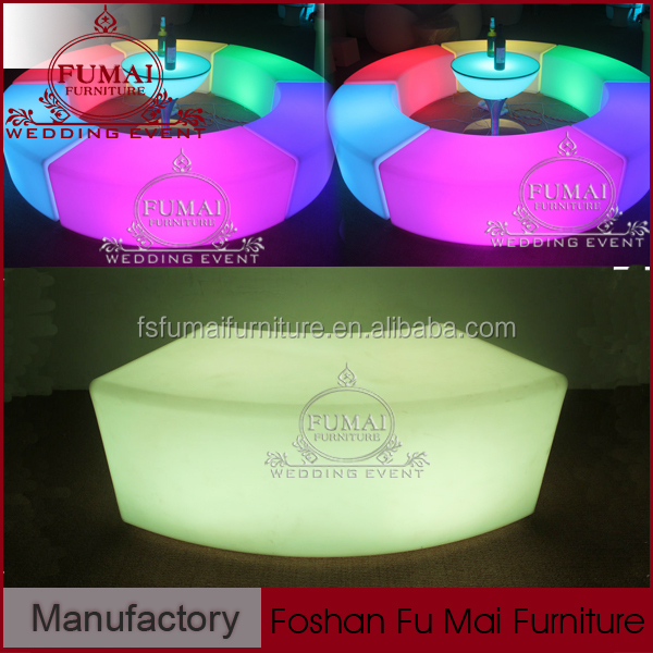 Events and Partys Used Plastic Round Combined Bar And Lounge Furniture