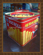 Hong kong Egg roll classical square tin box