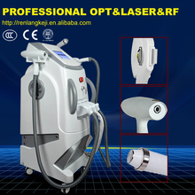 professional 3 in 1 laser skin treatment beauty machine/e-light ipl&nd yag laser&radio frequency