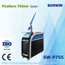 Professional Multifunction PicoSure 755nm & 532nm Laser For Tattoo & Acne & Scars Removal laser beauty machine